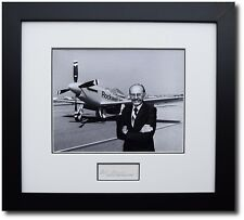 """R.A. """"Bob"""" Hoover with his Reno Air Race P-51 """"Ole Yeller""""- Signed by Bob Hoover"""