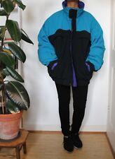 Goose Down Winter Puffer Coat Eddie Bauer Black Purple Blue XXL