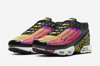 Nike Air Max Plus 3 TN Hyper Violet CJ9684-003 Black Purple Yellow Size 8-13 New