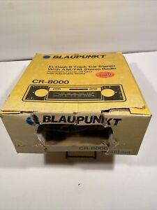Blaupunkt CR 8000 Vintage AM/FM 8 Track Radio NOS Porsche BMW Ferrari VW Audi