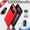 New Ultra-thin Mini 500000mAh Power Bank 2 USB Portable External Battery Charger