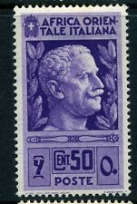 ITALY;  EAST AFRICA  1938 first issue fine Mint hinged  50c. value