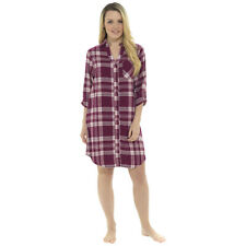 Ladies 100% Cotton Yarn Dyed Plaid Check Nightdress Nighty Sleepwear