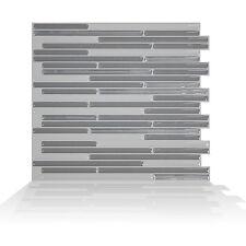 Smart Tiles SM1074-6 SELF-ADHESIVE WALL TILES 6/SHEET LOFT GRIGIO