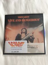 Thin Lizzy Live And Dangerous Deluxe Edtion Promo Cd X 2 & Dvd