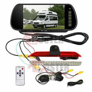 """7"""" Rear View Mirror Monitor+Nightvision Backup Camera for Mercedes-Benz Sprinter"""