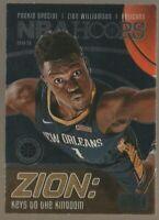 Zion Williamson 2019-20 NBA Hoops Premium Rookie Special Keys Kingdom SP