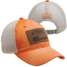 STIHL Chainsaws *WASHED ORANGE w/Tan MESH PATCH* LOGO HAT CAP *BRAND NEW!* ST07