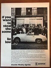 Vintage 1968-1969 Original Print Ad Austin Healey Sprite Convertible Sports Car