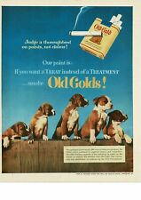 1952 OLD GOLD Cigarettes Boxer Puppies VTG PRINT AD