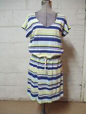 Gap Women's L Blue & Yellow Striped Dress