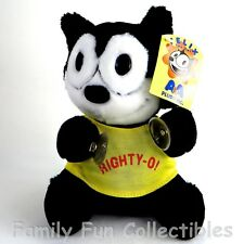 """Felix The Cat~1990s Aa Plush~Stuffed Doll~Righty O~7"""" Suction Cup Toy~New Nos"""