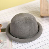 Women Mens Fashion Summer Straw Fedora Cuban Style Upturn Short Brim Hat