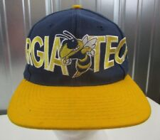 VTG 80s Georgia Tech Yellow Jackets Signatures Mascot Logo Spellout Snapback Hat