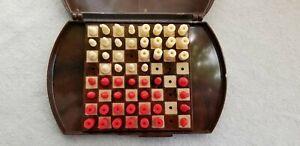 Vintage 1960's E.S. Lowe Co. Inc. N.Y. U.S.A. Plastic Chess Travel Set