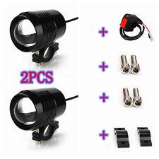 2PCS 30W U2 CREE Chip LED HeadLight Motorcycle Waterproof Spot Fog Light&Switch