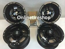 SET OF FOUR ITP SS112 Rims Matte Blk 4- WHEELS HONDA TRX 250X 250EX 450R ER