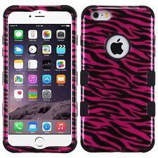 "New Tuff HYBRID Hard Case Cover Pink Zebra Black For Apple iPhone 6 PLUS 5.5"""