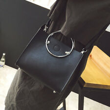 Voguish Message Bags With Small Purse Metal Ring Handle Handbags Shoulder Bags