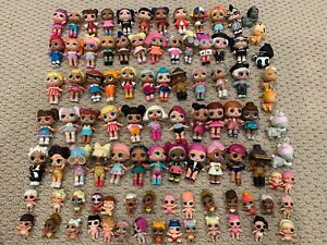 LOL Dolls Bulk Lot of 90+ Dolls Plus LOL Inspired Cake Toppers