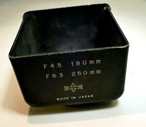 Mamiya Sekor TLR 180mm f4.5 250mm f6.3 Metal Lens Hood C220 C330 Shade OEM