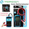 Auto 12V Vehicle Battery System Tester Car Charging Test Analyzer TOPDON AB101