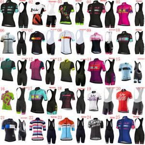 2020 Bike Jersey Women's Cycling Clothing short sleeve shirt bib shorts set F011