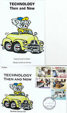 """Stamps 2012 Technology then now set 5 booklet stamps limited edition """"K"""" Covers"""