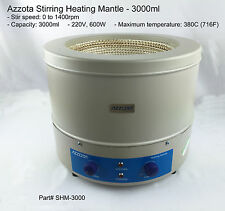 Azzota SHM-3000, Stirring Heating Mantle - 3000ml, 220V, 600W, 0 to 1400rpm, Max