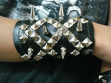 MIXED SPIKES AND STUDS UNISEX BRACELET.THRASH METAL... (MDLUB0266).....NAGLFAR