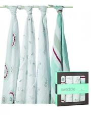 New Aden + Anais Classic Muslin Collection Swaddle 4-pack Muslin 47x47 Baby Boy