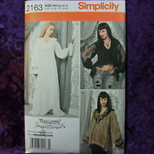 Simplicity 2163 Goth Lady Tops Gown Dress Pattern 6-12