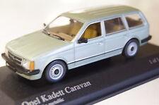 Opel Kadett D Caravan 1979 verde metalizado 1:43 Minichamps 400044111 nuevo & OVP