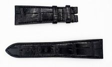 Zenith 23mm x 18mm Black Alligator Leather Watch Band Strap Matte - light sheen