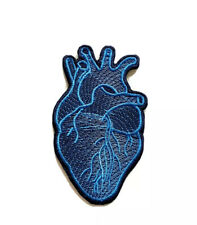 X-Ray Anatomical Red Heart Embroidered Iron Sew on Patch j1571