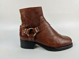 Office London Brown Leather Riding Boots Uk 4 Eu 37