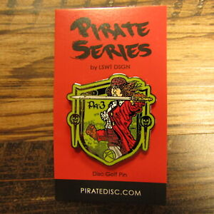 Les White Pirate Series Disc Golf Pin Female Pirate LSWT DSGN