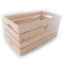 Large Wooden Fruit Vegetable Apple Storage Crate / Solid Wood Spruce 50x27x24cm
