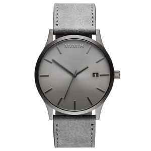 MVMT Classic Grey Leather Men's Watch - DMM01GRGR