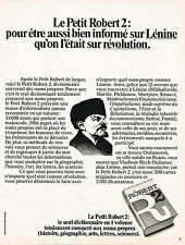 PUBLICITE ADVERTISING 104  1974   LE PETIT ROBERT  2