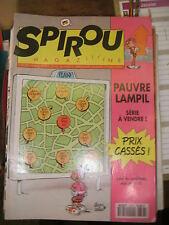 Spirou N° 2878 1993 BD Pauvre Lampil Le scrameustache Cédric Tom Carbone Sammy