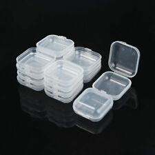 10Pcs Mini Clear Plastic Small Box Jewellery Earplugs Container Storage Box
