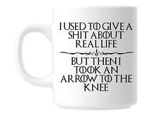 Funny Skyrim Inspired Arrow to knee Coffee Tea Gift Mug