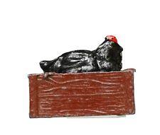 JOHILLCO LEAD PRE-WAR FARM SERIES *** SITTING HEN & (CHOCOLATE) NEST BOX...!!