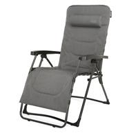 WESTFIELD Relax Lounger XL Relaxliege grau anthrazit mit Seitentasche