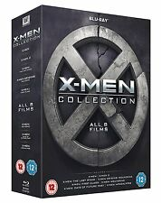 "X MEN COMPLETE COLLECTION ALL 8 MOVIES 8 DISCS BOX SET BLU-RAY RB ""NEW&SEALED"""