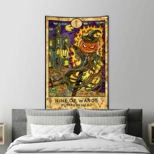 Halloween Pumpkin Demon Tapestry for Bedroom Living Room Dorm  Vertical Decor
