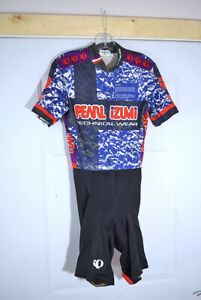 Vintage Pearl Izumi Technical Wear Cycling Bicycling One Piece Jersey Suit Sz L
