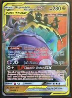 Pokemon Card  NAGANADEL & GUZZLORD GX  Ultra Rare  158/236 COSMIC ECLIPSE *MINT*