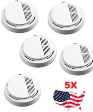 5X Wireless Fire Detector Home Safety Fire Alarm Sensor System Cordless